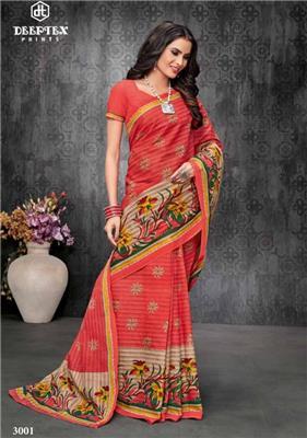 DEEPTEX MOTHER INDIA VOL 30 pure cotton printed  saree